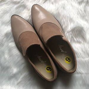 NWOT FREE PEOPLE Nude Booties